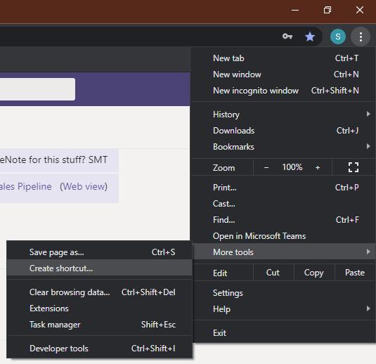 Install site as an app using Chrome